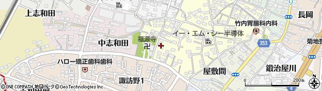 福島県伊達市下志和田周辺の地図
