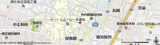 福島県伊達市南堀周辺の地図