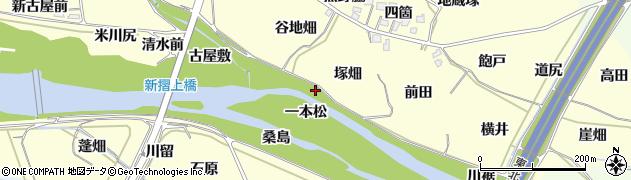 福島県福島市飯坂町湯野(一本松)周辺の地図