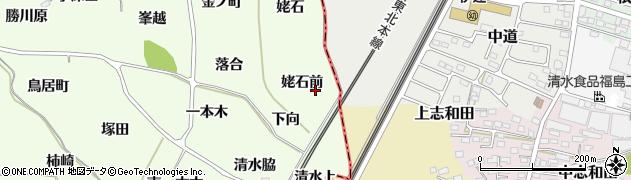 福島県福島市飯坂町東湯野(姥石前)周辺の地図