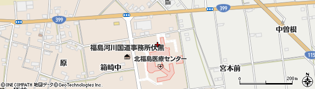 福島県伊達市箱崎(東)周辺の地図