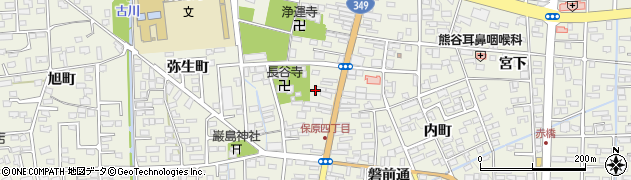 福島県伊達市保原町(五丁目)周辺の地図