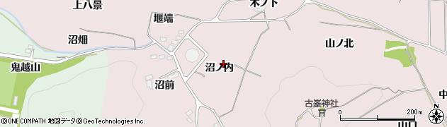福島県福島市飯坂町平野(沼ノ内)周辺の地図