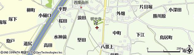 福島県福島市飯坂町東湯野(三隅田)周辺の地図