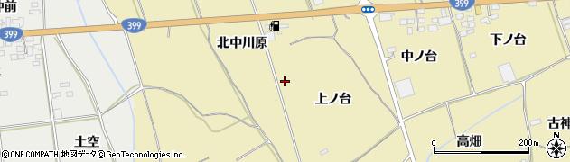 福島県伊達市保原町上保原(南中川原)周辺の地図