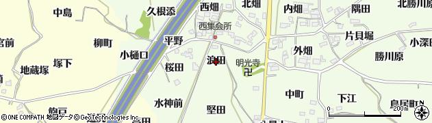 福島県福島市飯坂町東湯野(浪田)周辺の地図