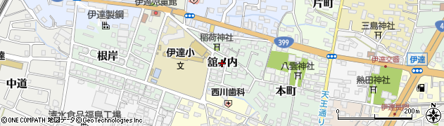 福島県伊達市舘ノ内周辺の地図