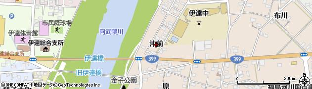福島県伊達市箱崎(沖前)周辺の地図