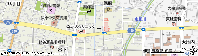 福島県伊達市保原町(城ノ内)周辺の地図