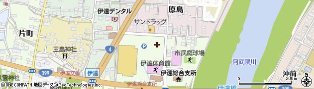 福島県伊達市前川原周辺の地図