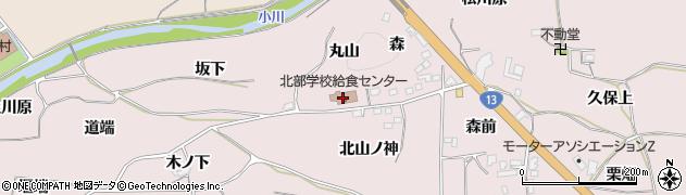 福島市 北部・学校給食センター周辺の地図