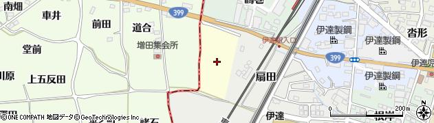 福島県伊達市江向周辺の地図