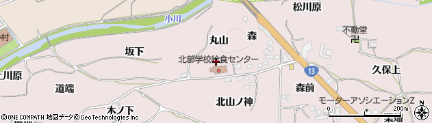 福島県福島市飯坂町平野(丸山)周辺の地図
