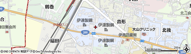 福島県伊達市干供田周辺の地図