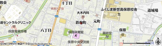 福島県伊達市保原町(鉄炮町)周辺の地図