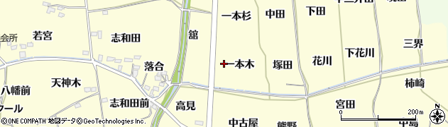 福島県福島市飯坂町湯野(一本木)周辺の地図