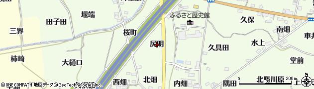福島県福島市飯坂町東湯野(尻明)周辺の地図