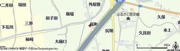 福島県福島市飯坂町東湯野(桜町)周辺の地図