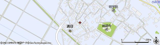 新潟県新潟市秋葉区七日町周辺の地図