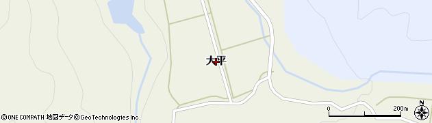 山形県米沢市大平周辺の地図