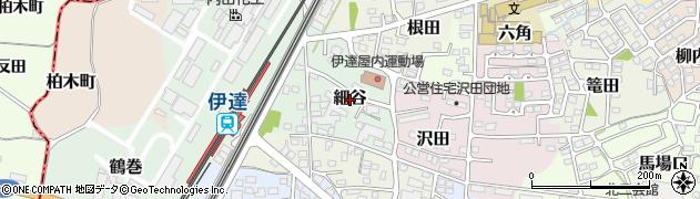 福島県伊達市細谷周辺の地図
