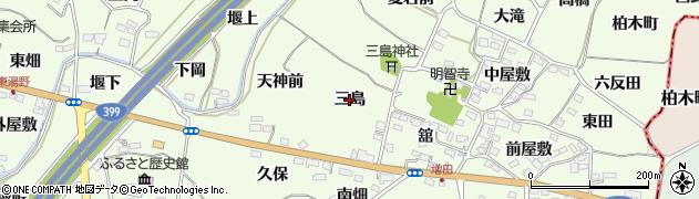 福島県福島市飯坂町東湯野(三島)周辺の地図