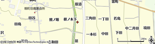 福島県福島市飯坂町湯野(榧ノ木下)周辺の地図