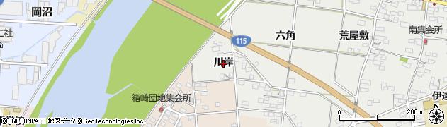 福島県伊達市伏黒(川岸)周辺の地図