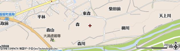 福島県福島市飯坂町中野(森)周辺の地図