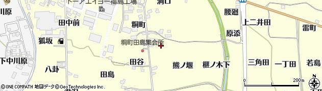 福島県福島市飯坂町湯野(原田)周辺の地図