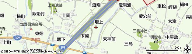 福島県福島市飯坂町東湯野(堰上)周辺の地図