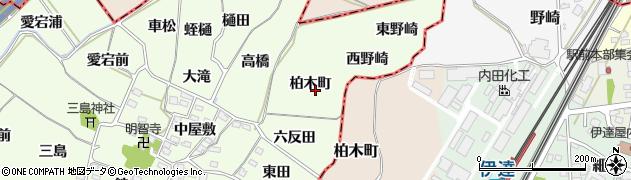 福島県福島市飯坂町東湯野(柏木町)周辺の地図