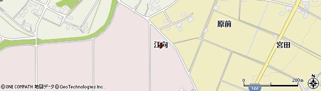 福島県伊達市保原町金原田(江向)周辺の地図