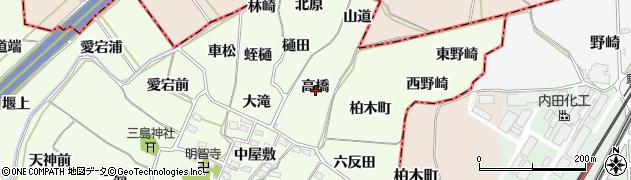 福島県福島市飯坂町東湯野(高橋)周辺の地図