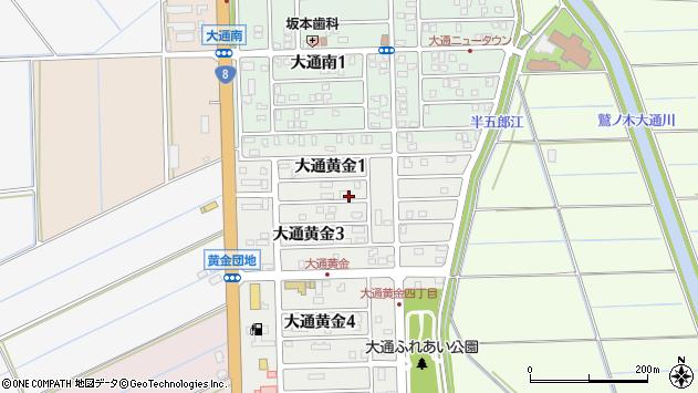 〒950-1203 新潟県新潟市南区大通黄金の地図