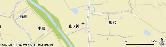 福島県伊達市梁川町大関(山ノ神)周辺の地図