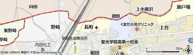 福島県伊達市長町周辺の地図
