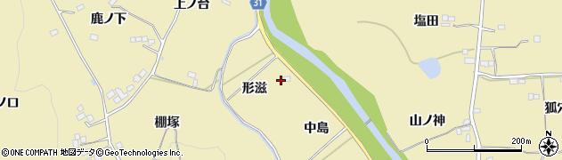 福島県伊達市梁川町大関(形滋)周辺の地図