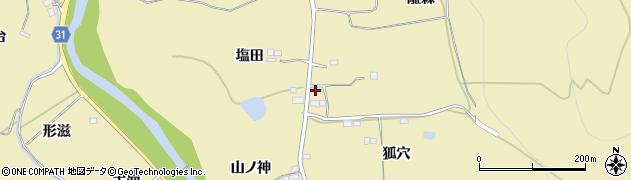 福島県伊達市梁川町大関(塩田)周辺の地図