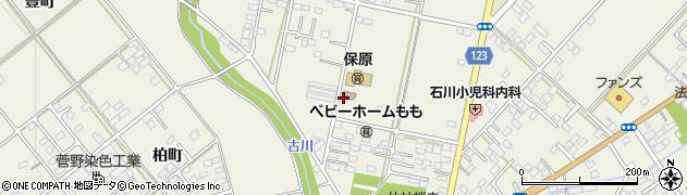 福島県伊達市保原町(東台後)周辺の地図