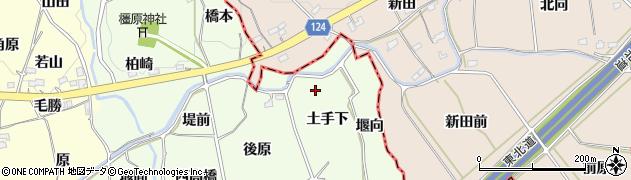 福島県福島市飯坂町東湯野(土手下)周辺の地図