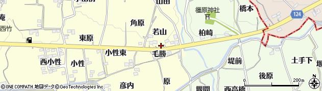 福島県福島市飯坂町湯野(若山)周辺の地図