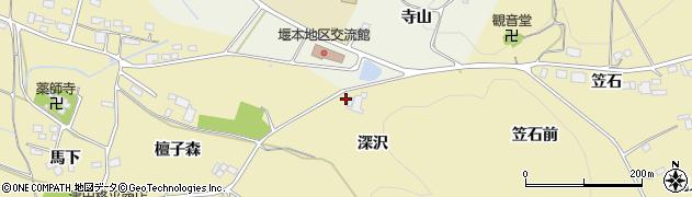 福島県伊達市梁川町細谷(深沢)周辺の地図