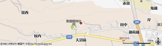 福島県福島市飯坂町中野(天沼)周辺の地図
