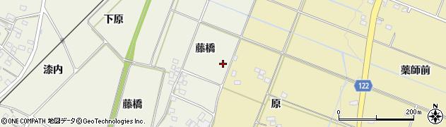 福島県伊達市梁川町新田(藤橋)周辺の地図