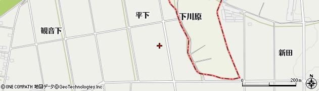 福島県伊達市伏黒(平下)周辺の地図