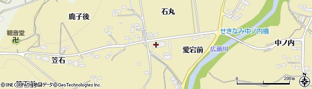 福島県伊達市梁川町大関(石丸)周辺の地図