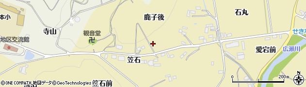 福島県伊達市梁川町大関(鹿子後)周辺の地図