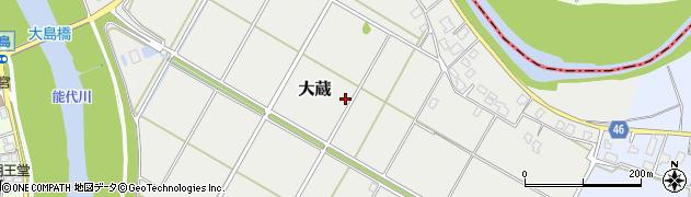 新潟県新潟市秋葉区大蔵周辺の地図