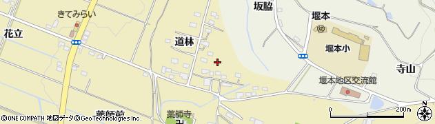 福島県伊達市梁川町細谷(道林)周辺の地図